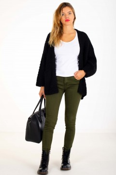 GILET MAILLE POCHES