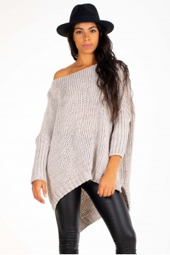PULL GROSSE MAILLE OVERSIZE