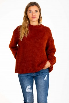 PULL ROND MAILLE