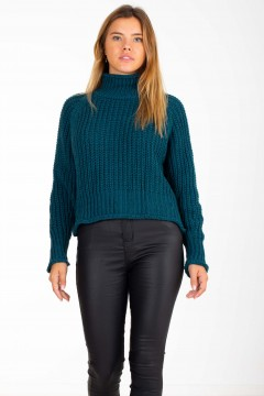 PULL MAILLE COL MONTANT