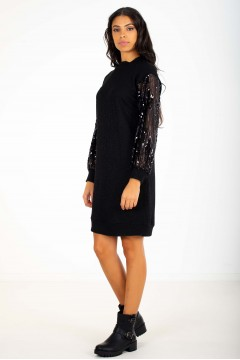 ROBE MANCHES PAILLETTES