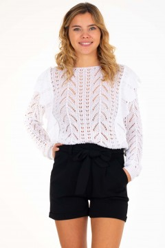 PULL MAILLE VOLANT
