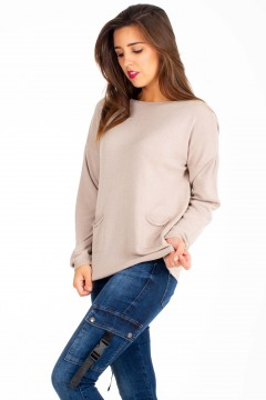 PULL MAILLE POCHES