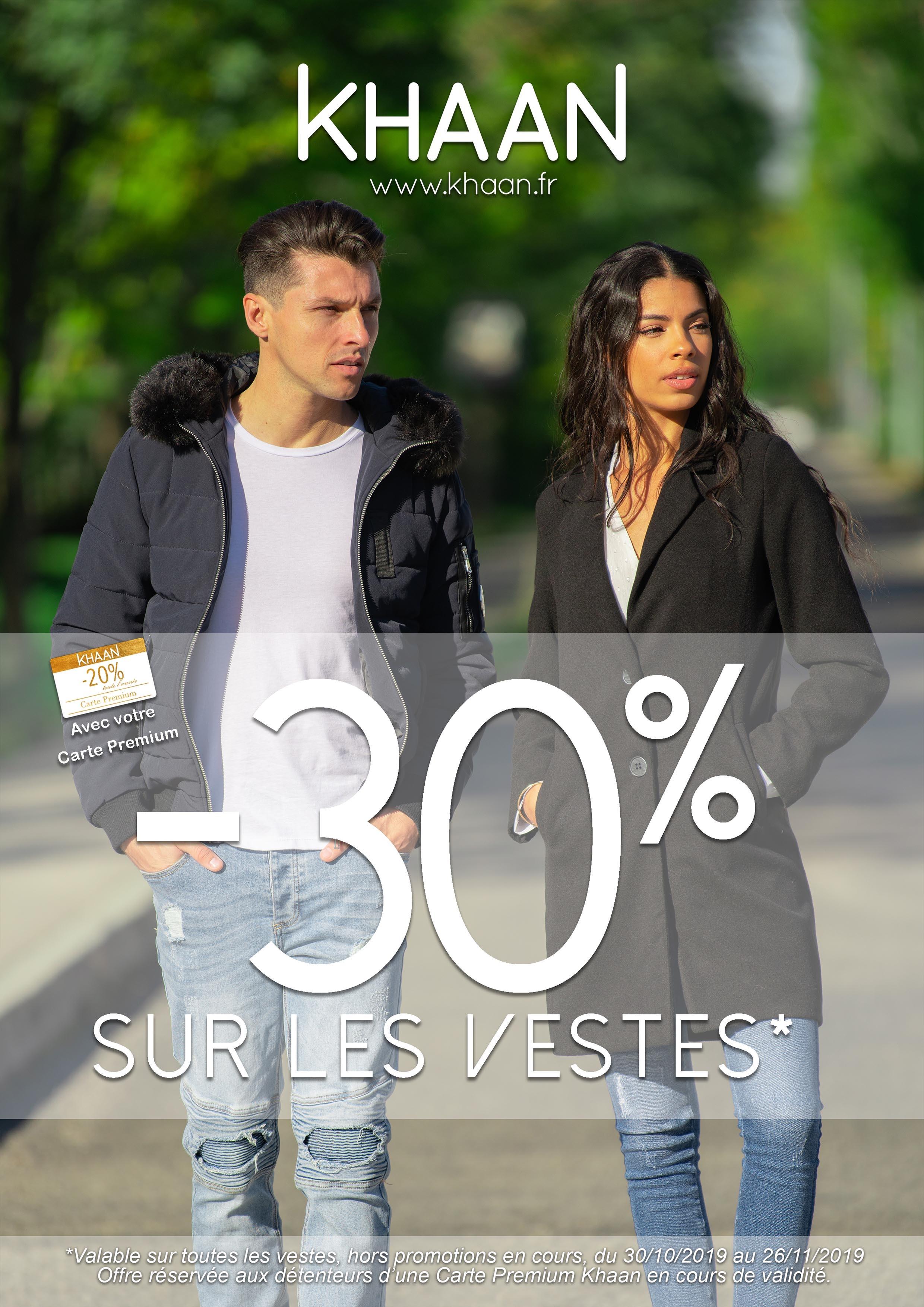 -30% sur toutes les vestes* !